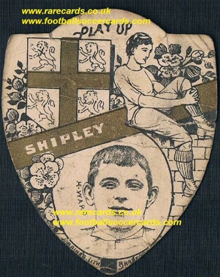 1890s Herbert Ward Shipley Bradford England rugby international Baines card